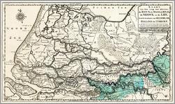 B69 KAART van den Loop der Rivieren de RHYN, de MAAS, de WAAL, de MERWE, en de LEK, door de Provincien van GELDERLAND, ...