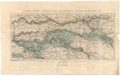 B100123 De overstroomde landen aan Rijn, Waal en Maas in januarij en februarij 1861 [Kaart van de overstroomde gebieden ...