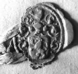 2414 Zegel van: Peter Mauritsz dit Loenen d.d. 28 april 1735 secretaris van Ammerzoden