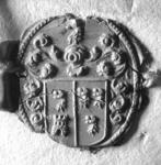 1974 Zegel van: (waarsch.) du Castel Sara Domus, die d.d. 11/12 aug. 1724 testeert, verklaart (…) door een vertrouwt ...