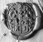 2133 Zegel van: (waarsch.) du Castel Sara Domus, die d.d. 11/12 aug. 1724 testeert, verklaart (…) door een vertrouwt ...