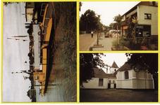 2-10036 Drie inzetten: veerpont, Hervormde kerk en E.P. van Ooijenstraat