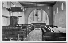 15-10009 Interieur hervormde kerk met preekstoel