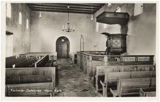 15-10022 Interieur hervormde kerk met preekstoel