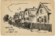 2-10051 Pentekening huizen Aalst. Groeten uit.